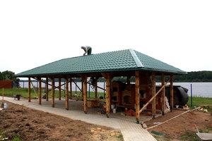 Четырехскатная крыша из металлочерепицы