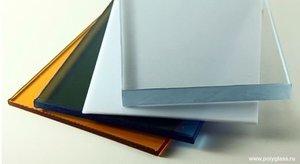 Листы монолитного поликарбоната отличаются только толщиной, которая варьируется от 2 до 12 мм