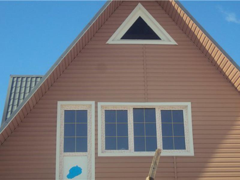 фронтоны домов из сайдинга