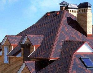 Окончательный вид крыши с гибкой черепицей