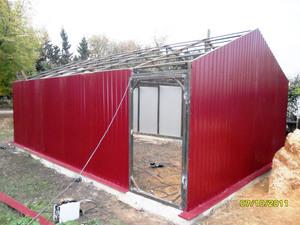 Готовые гаражи из профнастила