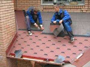 Монтажные работы на крыше