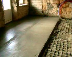 Заливка цементо-бетоном